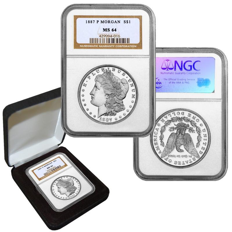 1887 MS64 NGC P-Mint Morgan Silver Dollar