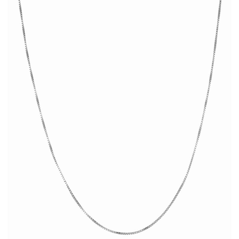 """20"""" Sterling Silver 1.3mm Box Chain Necklace"""