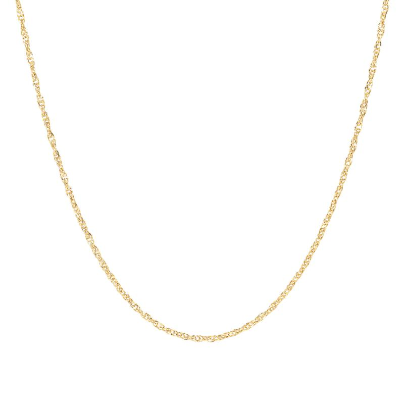 "30"" 14K Gold Polished Singapore Chain"