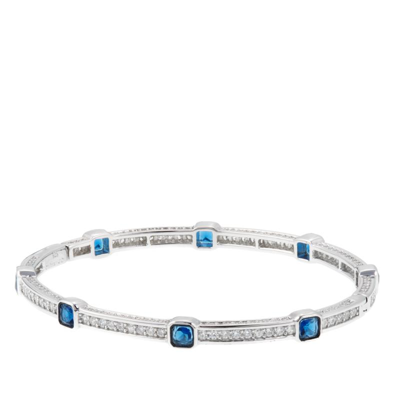 3.12ctw Absolute™ and Simulated Sapphire Bracelet