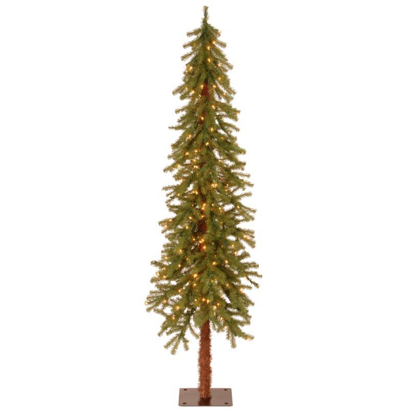 6' Hickory Cedar  Tree w/Lights