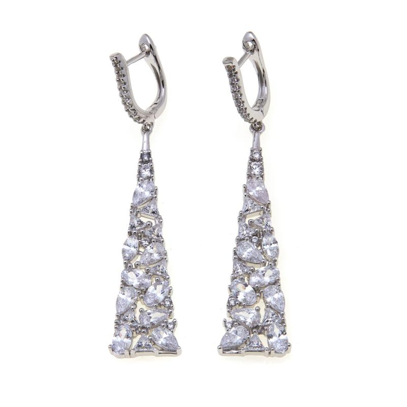 6.82ctw Absolute™ Multi-Shaped Stone Earrings