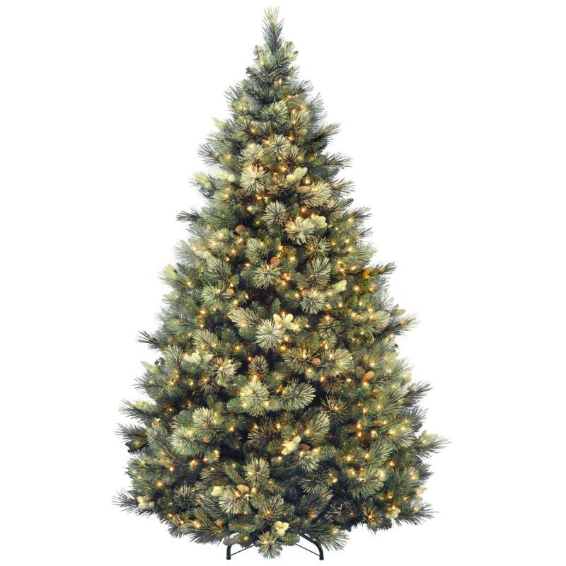 7-1/2' Carolina Pine Hinged Tree w/Lights