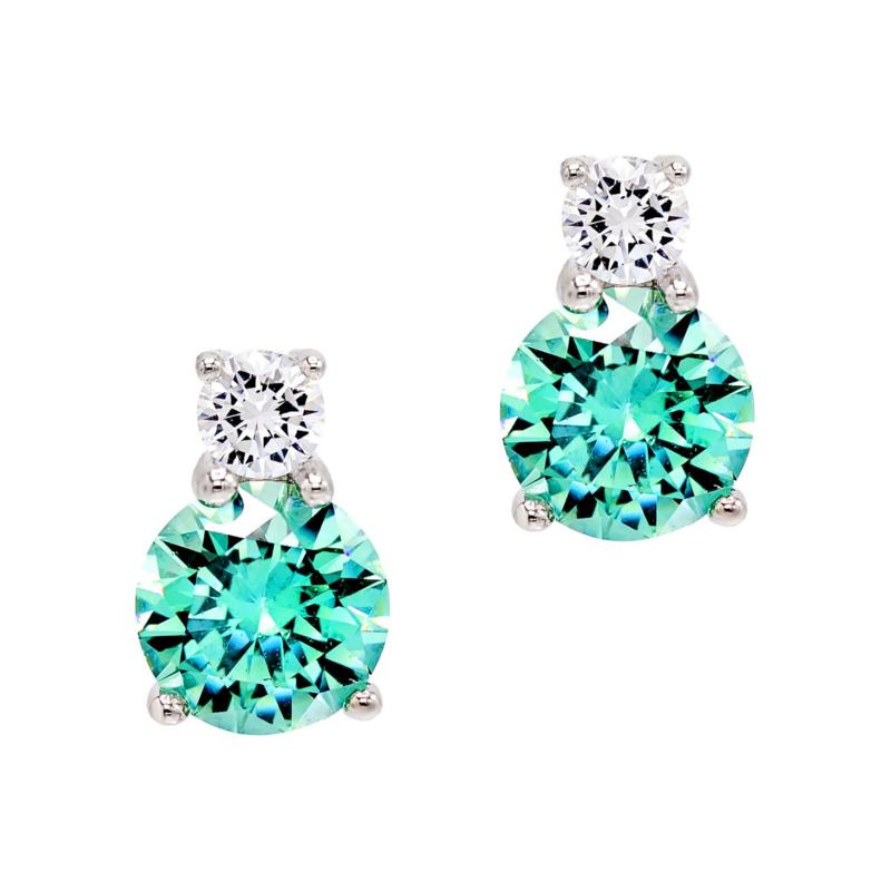 Absolute™  Colored and Clear Cubic Zirconia Drop Earrings