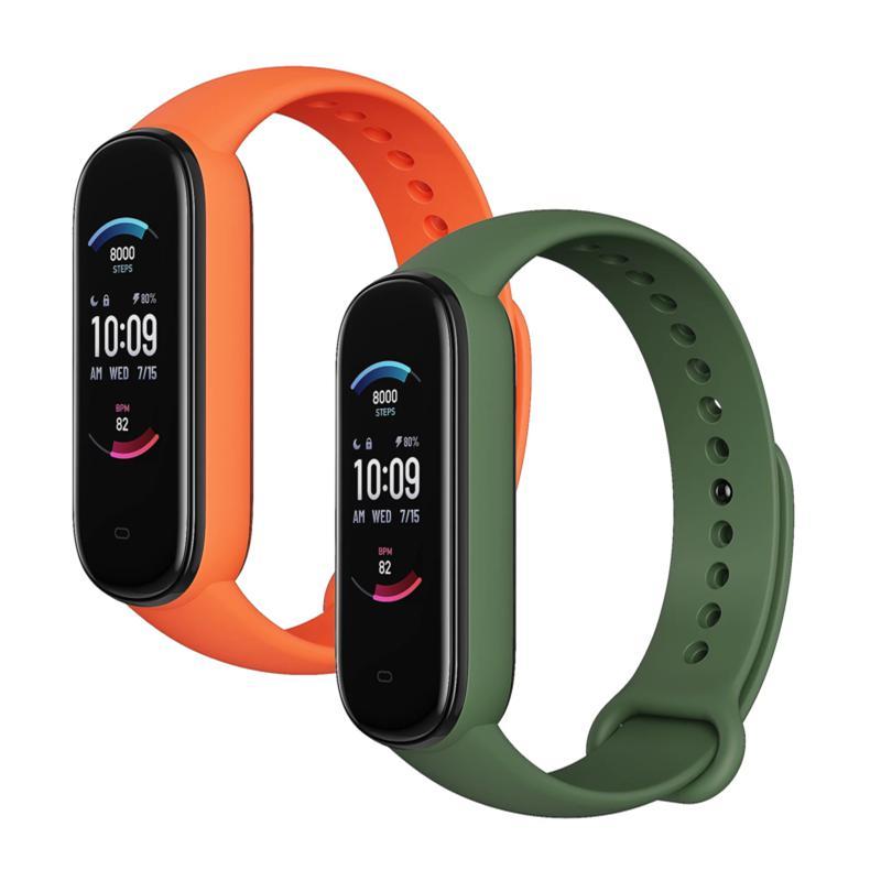 Amazfit Band 5 Health & Fitness Tracker with Alexa - Set of 2