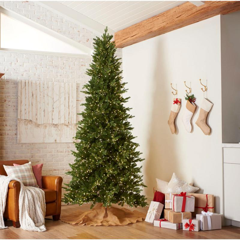 American Tree & Wreath 7.5' Color-Changing Green Starry Alpine Tree