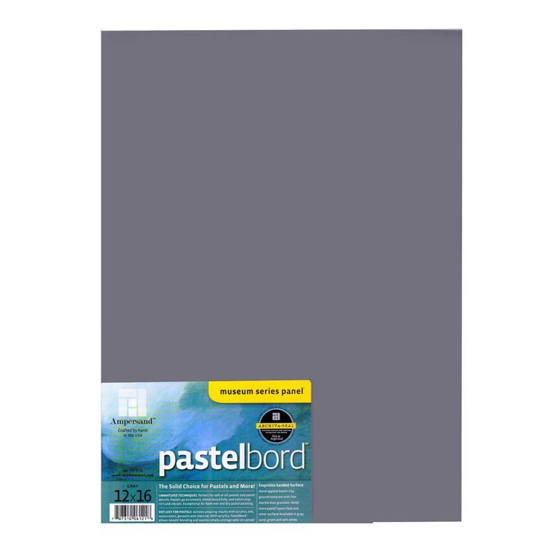 "AMPERSAND Pastelbord 12"" x 16"" Gray"