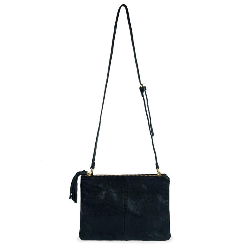 Amsterdam Heritage Alles Double Zipper Crossbody Bag