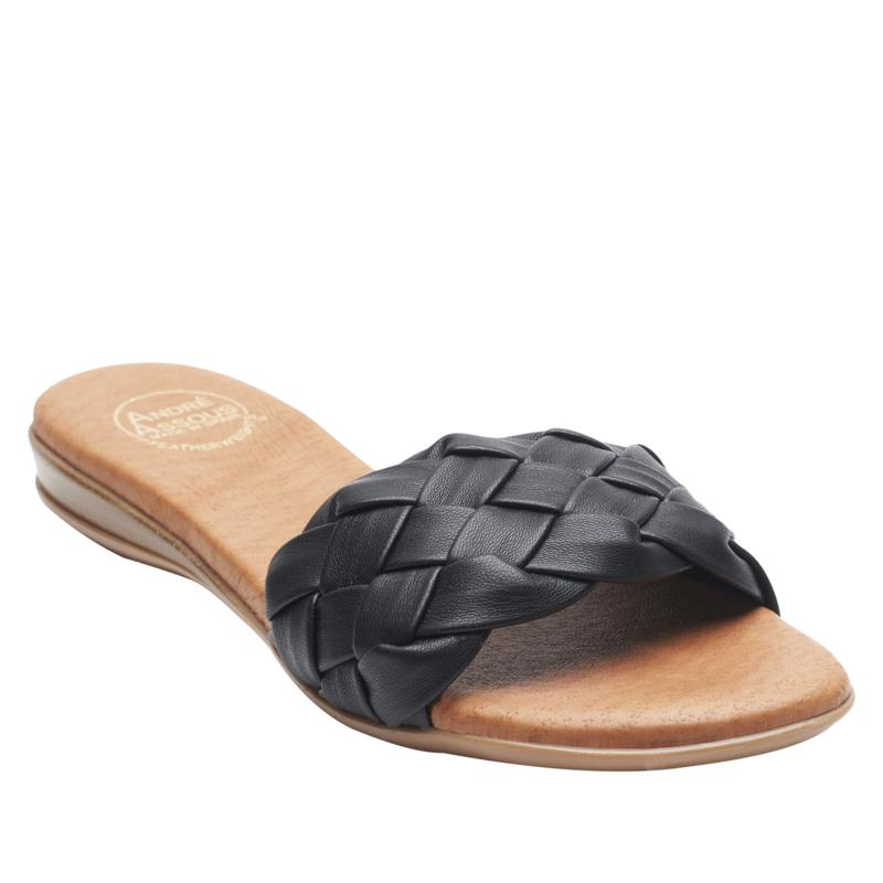 André Assous Nicki Woven Leather Slide