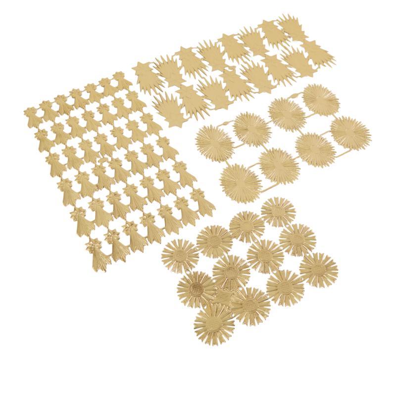 Anna Griffin® Starburst Goldtone Foil 2-Sided Dresden Embellishments