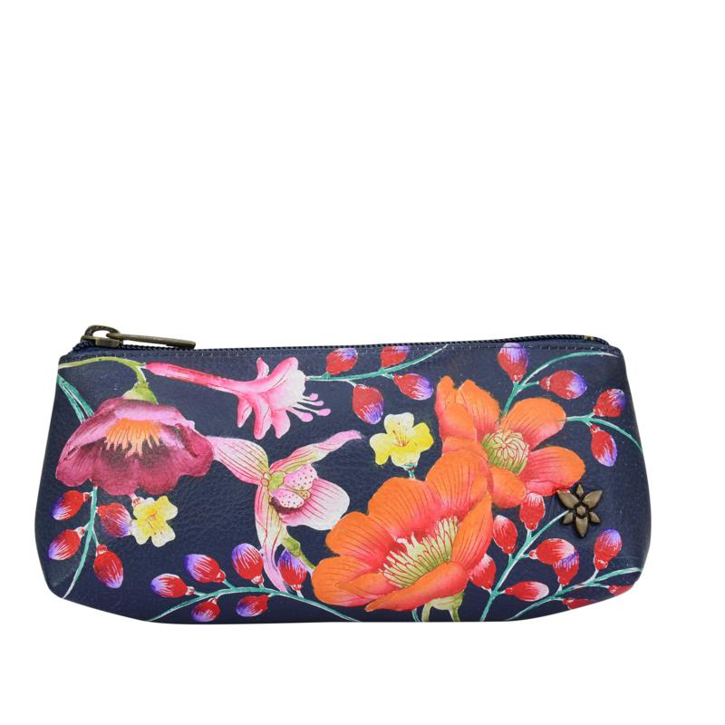 Anuschka Hand Painted Leather Cosmetic Case