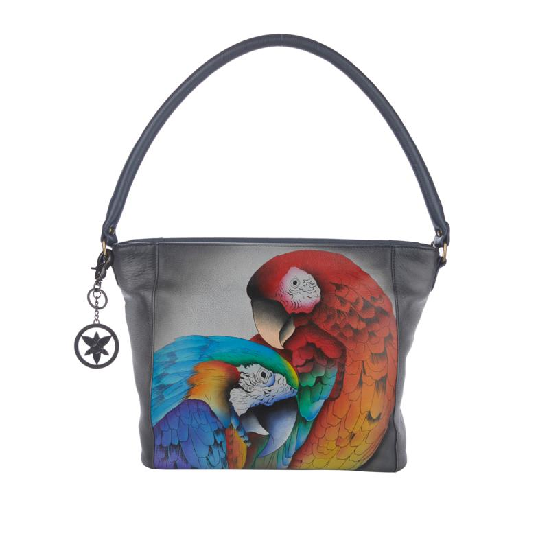 Anuschka Hand-Painted Leather Shopper Tote