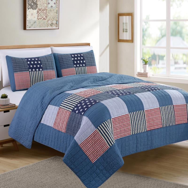 """""""As Is"""" Christopher Knight Collection Americana Patchwork 3-piece Q..."""