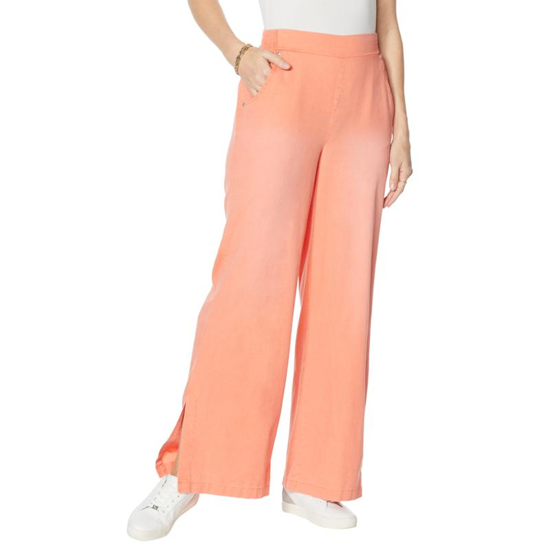 """""""As Is"""" DG2 by Diane Gilman SoftCell Side Slit Pull-On Pant - Fashion"""