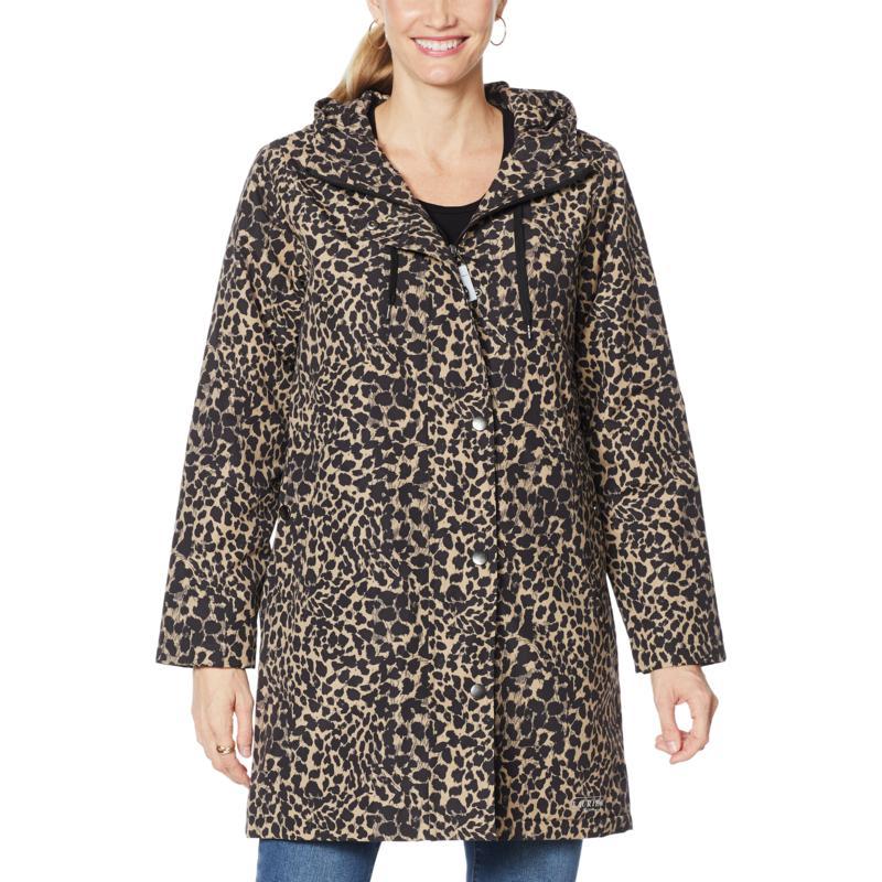 """""""As Is"""" Laurier Waterproof Printed Jacket with Hood"""
