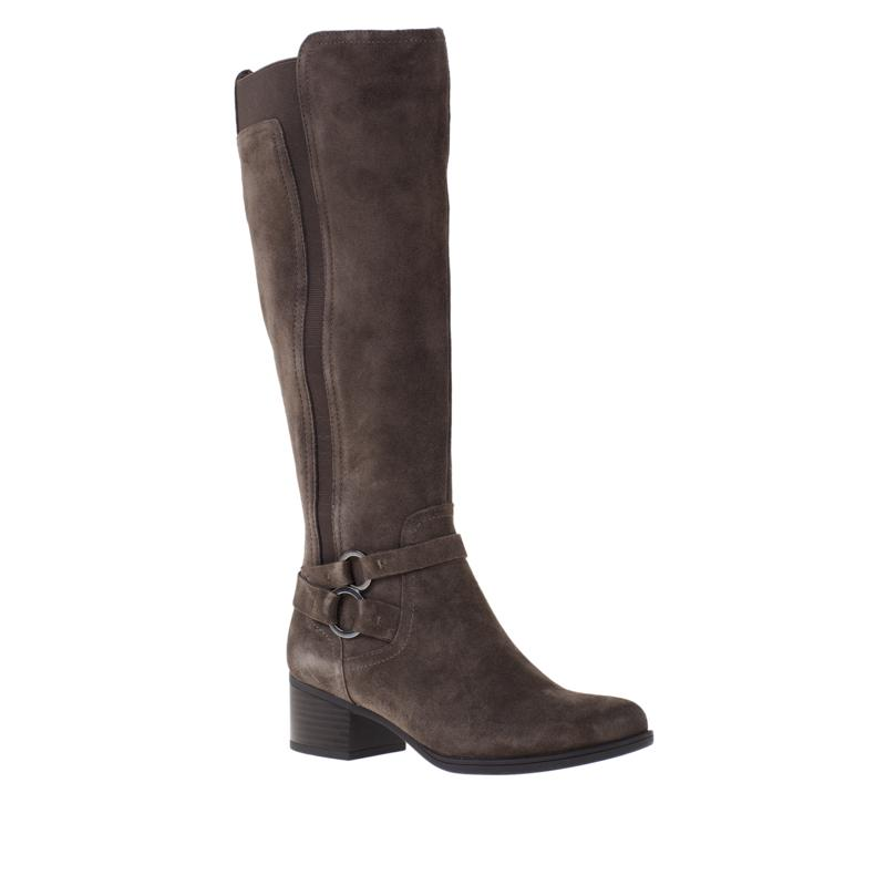 """""""As Is"""" Naturalizer Kiana Leather or Suede Riding Boot - Wide Calf"""