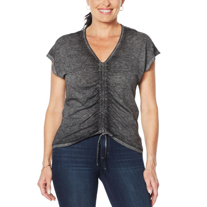 """""""As Is"""" Skinnygirl Smallz Ruched Front Short-Sleeve Top"""