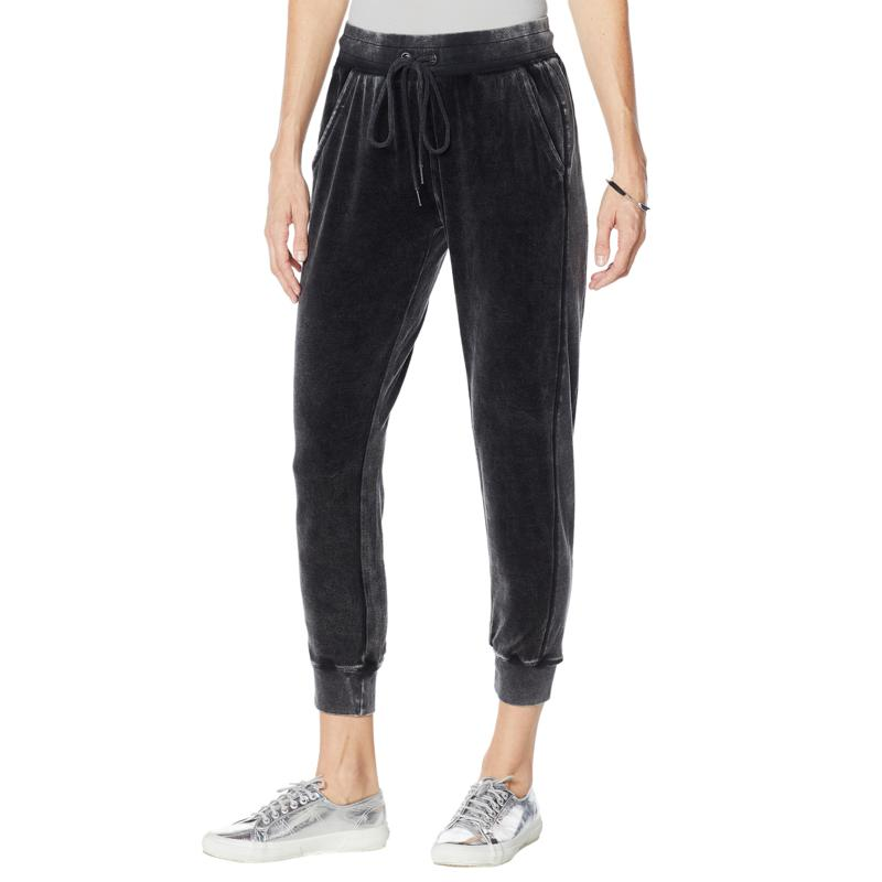 """""""As Is"""" Skinnygirl Snow Wash Velour Jogger Pant"""