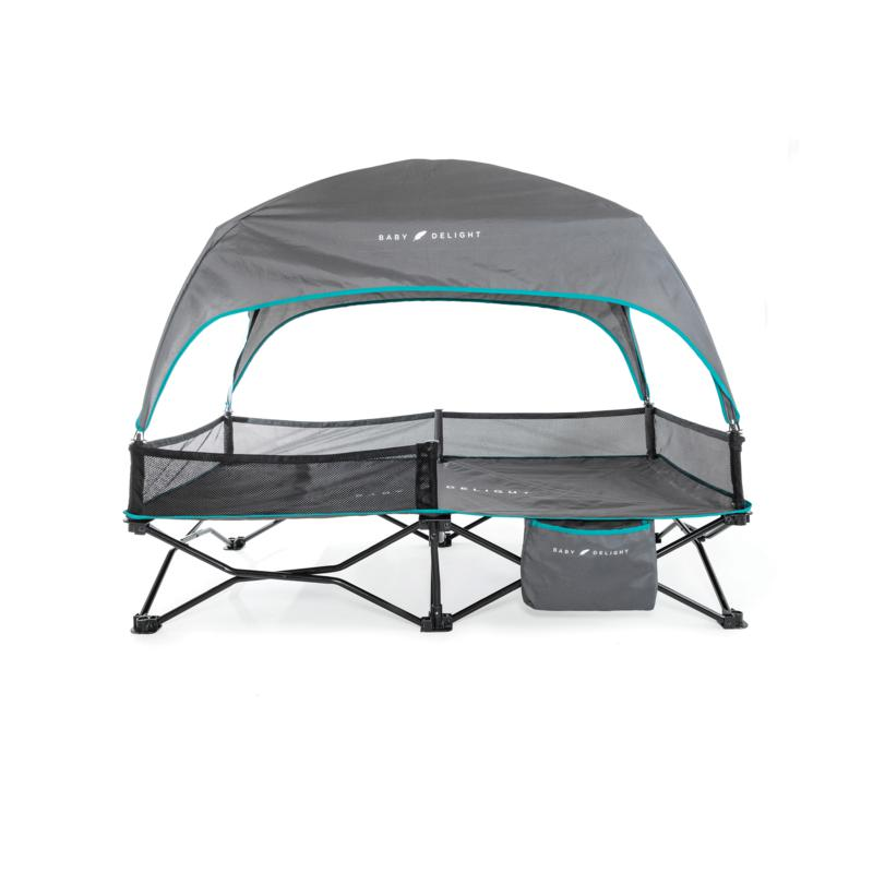 Baby Delight® Go With Me™ Bungalow Deluxe Portable Travel Cot - Grey