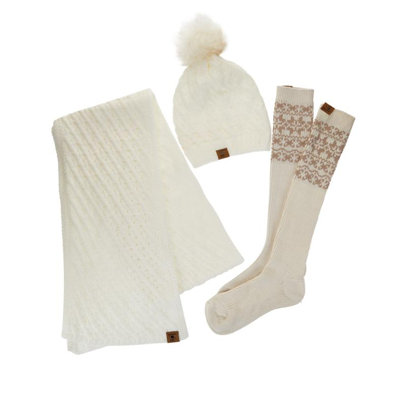 BEARPAW® Hat, Scarf and Sock Gift Set