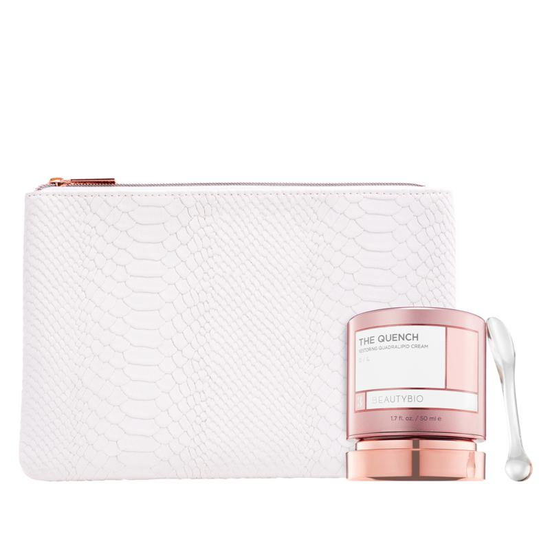BeautyBio The Quench Quadralipid Cream + Bag