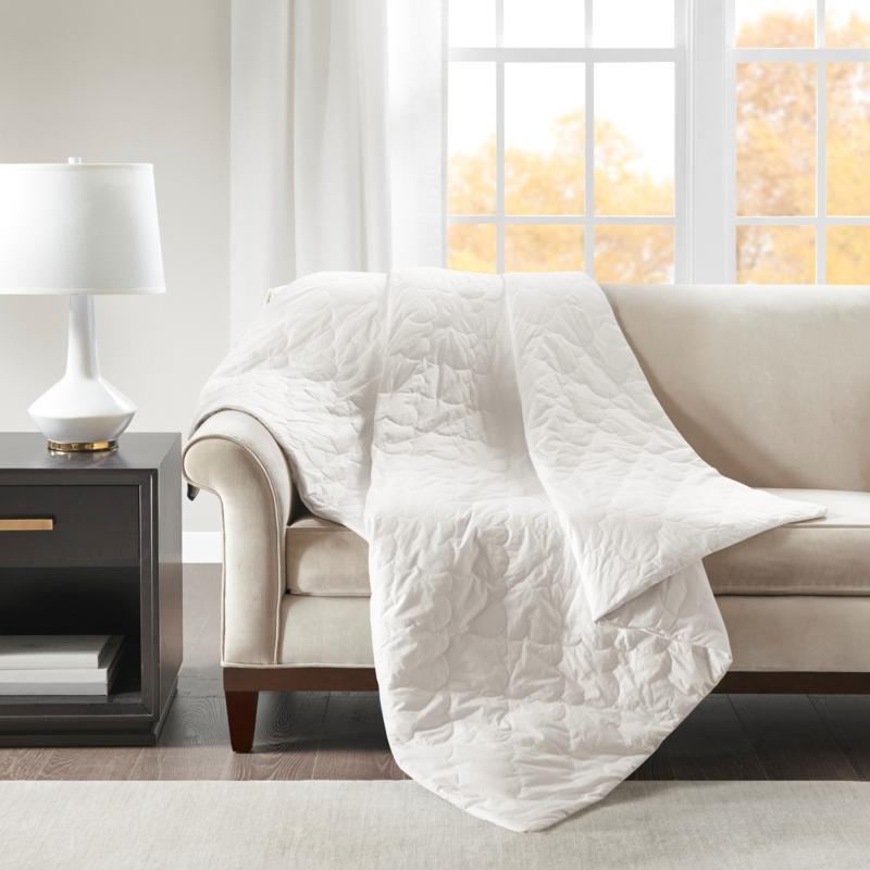 """Beautyrest Deluxe Cotton Weighted Blanket 60"""" x 70""""- 12 lb. - White"""