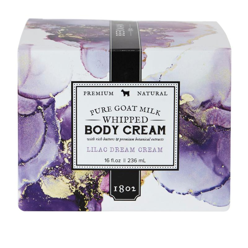 Beekman 1802 Lilac Dream Goat Milk Body Cream with Spatula