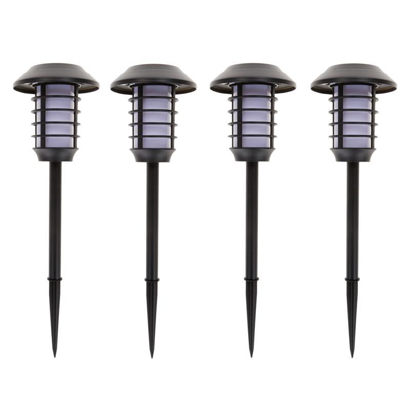 Bell + Howell 4-pack 2-in-1 Solar Lights - Warm Light
