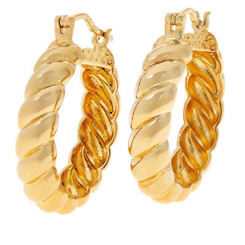 Bellezza Bronze Bold Rope Doorknocker Earrings