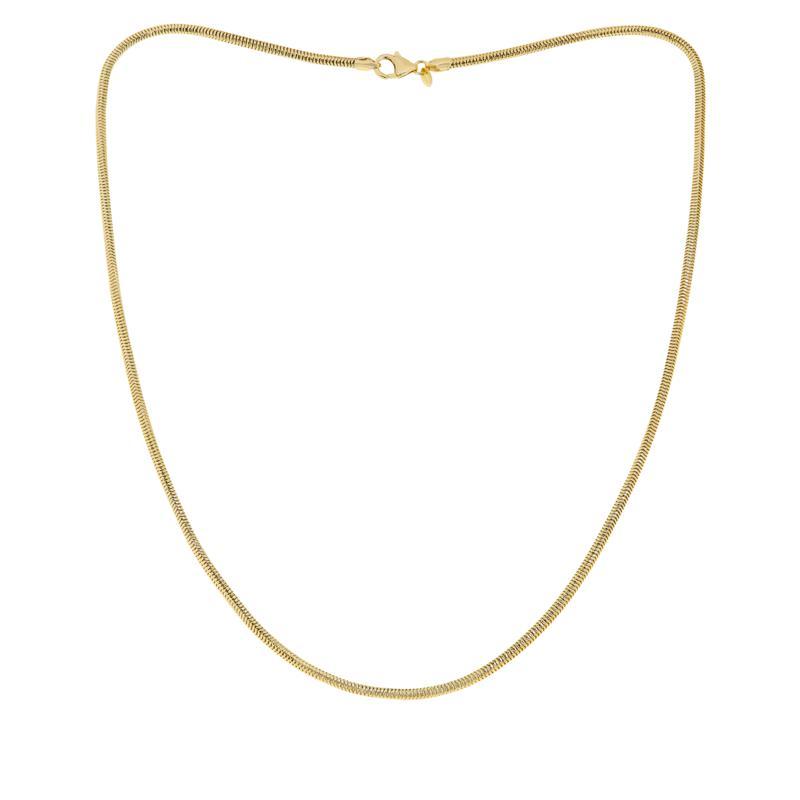 "Bellezza Bronze Diamond-Cut Snake Chain Necklace - 24"""