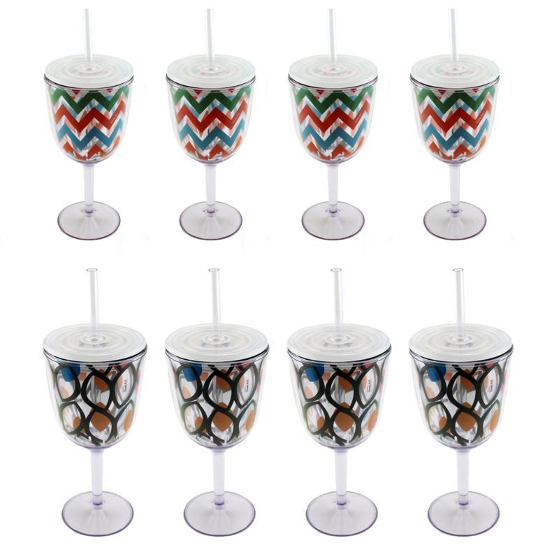 BergHOFF® 8-piece Acrylic Wine Glass Set