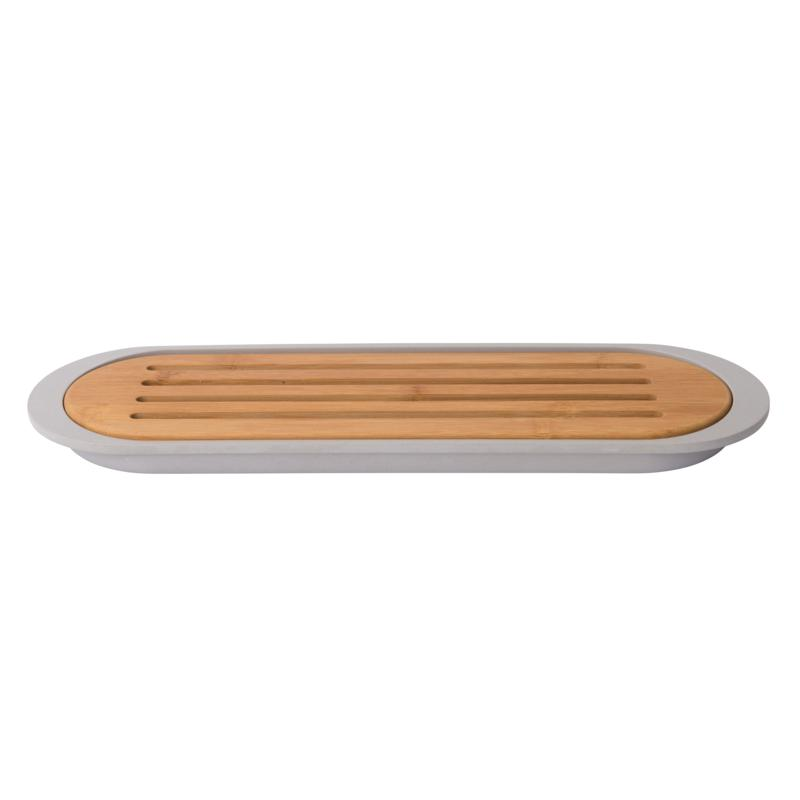 """BergHOFF Leo 15"""" Bamboo Baguette Cutting Board with Tray"""