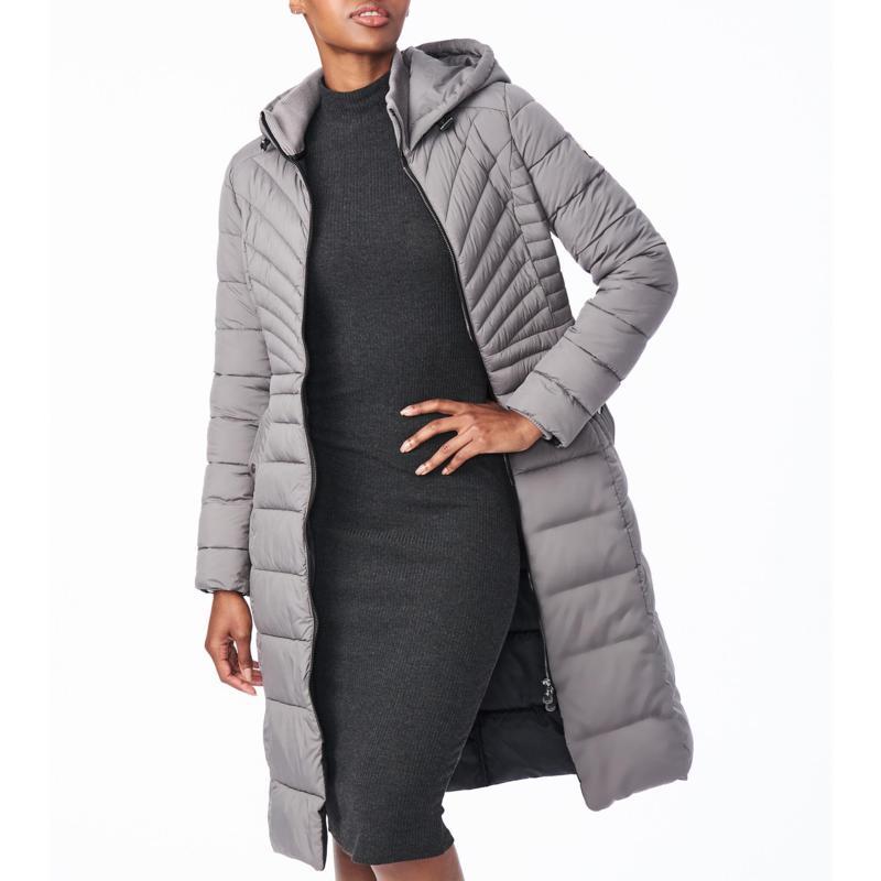Bernardo EcoPlume Maxi Coat with Snap Vent