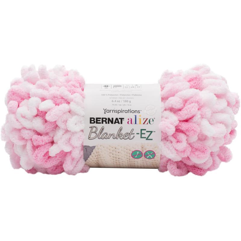 Bernat Alize Blanket-EZ Yarn - White Pink