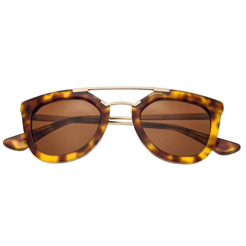 Bertha Ella Polarized Sunglasses with Tortoise Frame and Brown Lenses