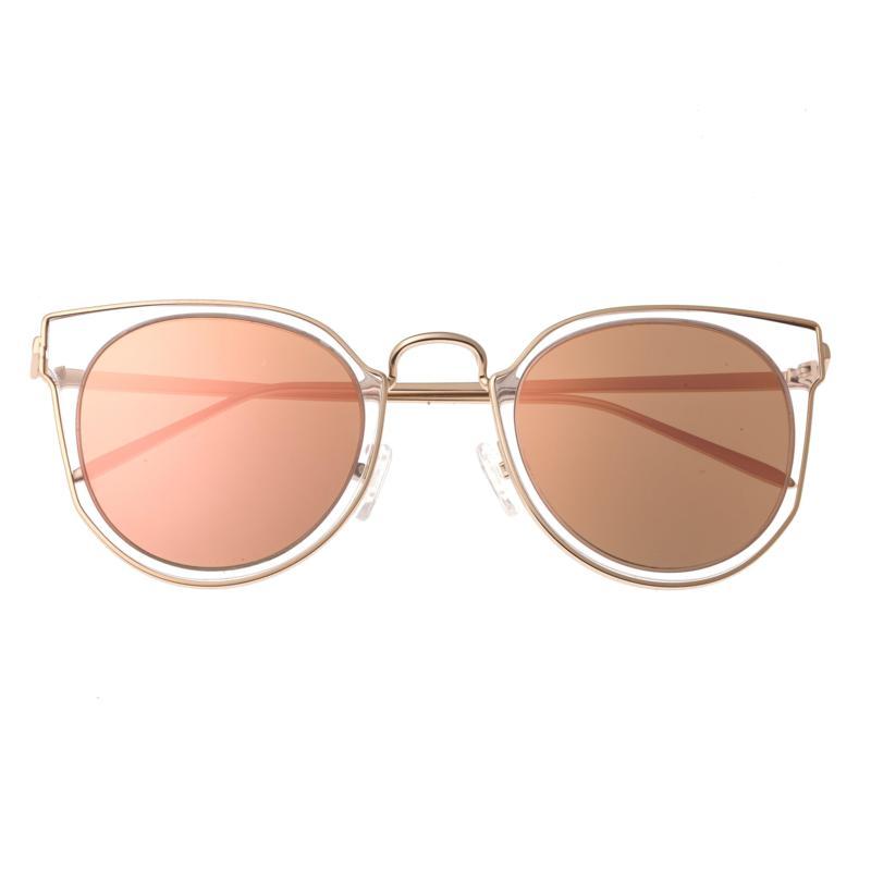 Bertha Harper Polarized Sunglasses with Rose Gold Frames and Lenses