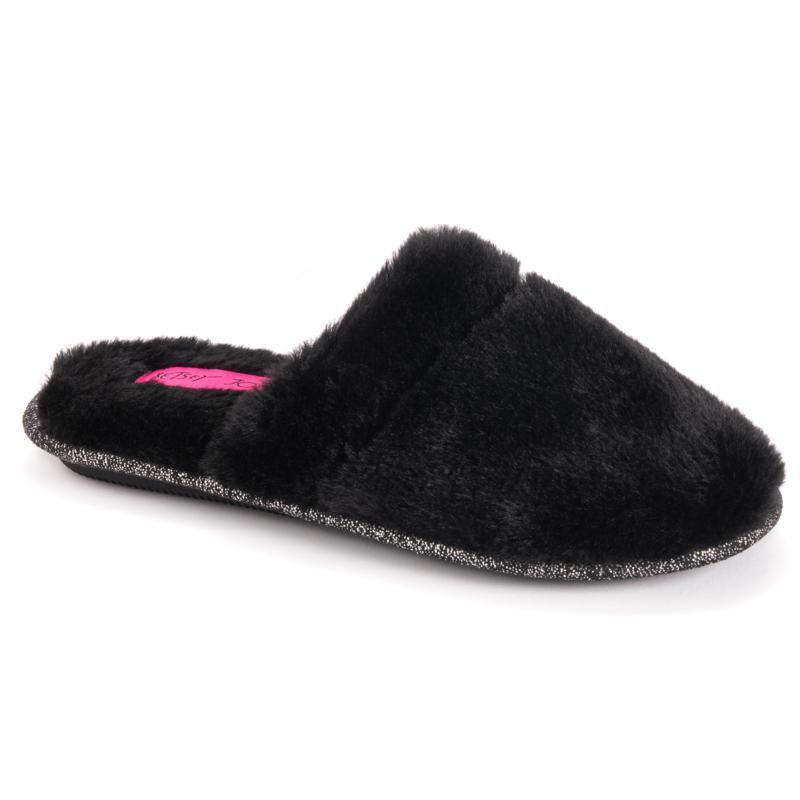Betsey Johnson Women's Faux Fur Scuff Slippers