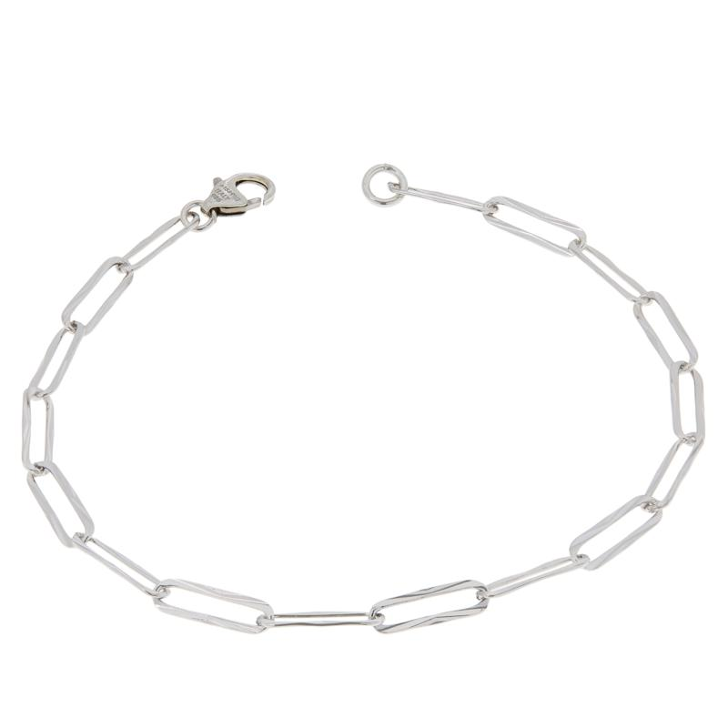 Bianca Milano Sterling Silver Paperclip Link Chain Anklet