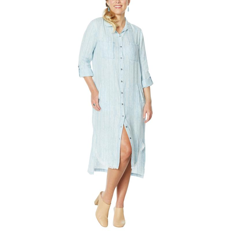 Billy T By the Seashore Button-Up Maxi Shirtdress