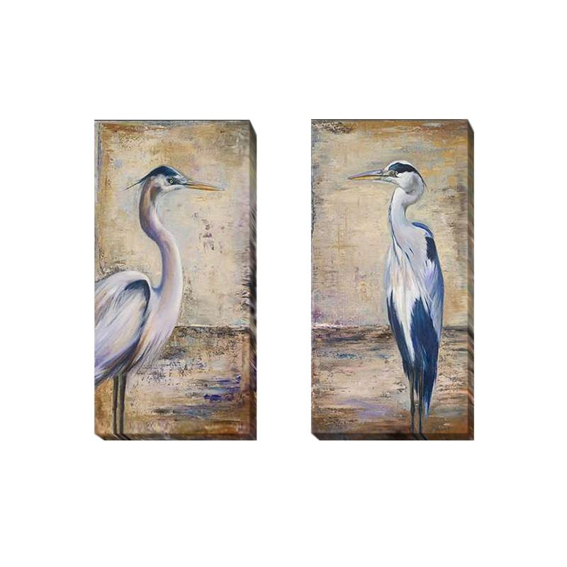 """""""Blue Heron"""" by Pinto 2pc Gallery-Wrapped Giclee Set"""