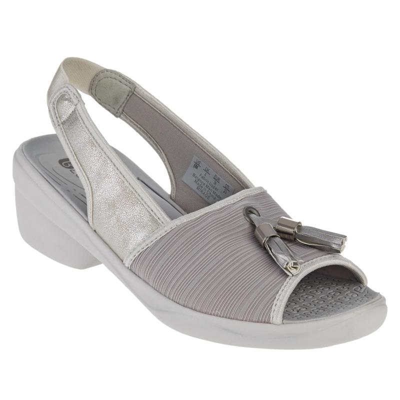 Bzees Mirage Washable Peep-Toe Slingback Sandal