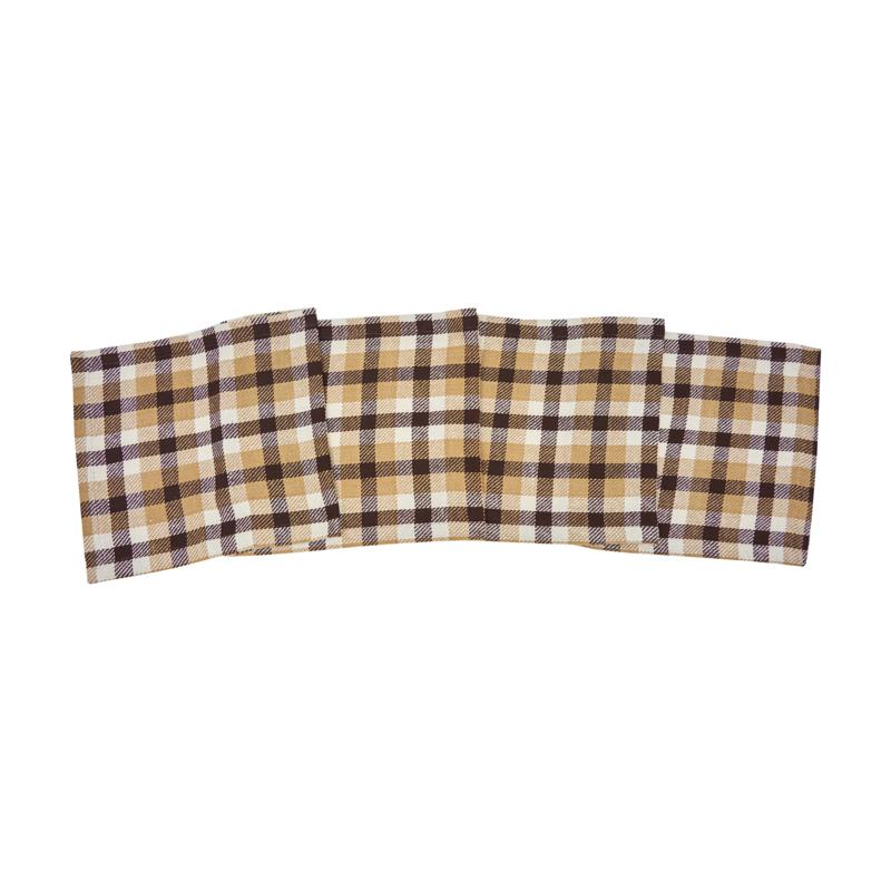 C&F Home Dunmore Plaid Cocoa Runner