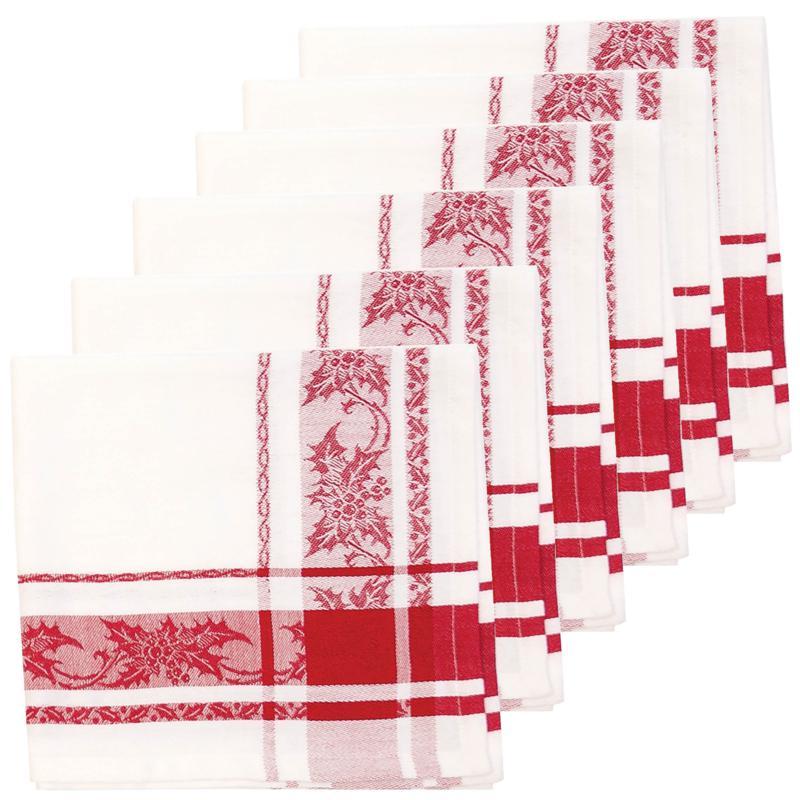 C&F Home Jacquard Holly Cotton Napkin Set of 6