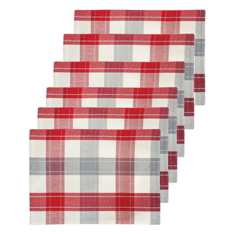 C&F Home Nordic Plaid Cotton Placemat Set of 6