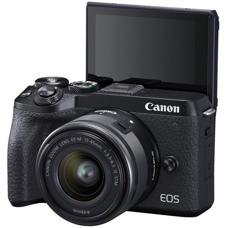 Canon EOS M6 Mark II Digital Camera w/15-45mm Lens & Viewfinder-Black