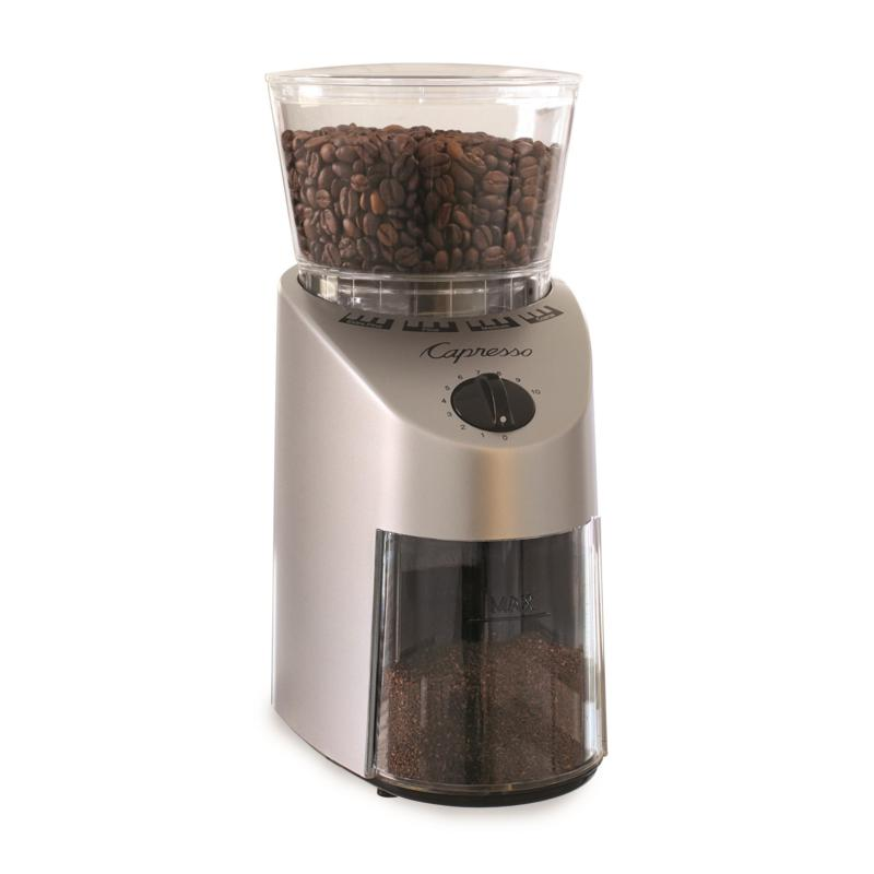 Capresso Infinity Conical Burr Grinder ABS Stainless Finish