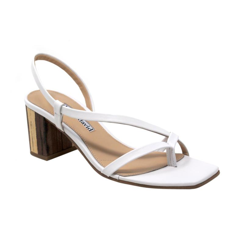 Charles David Clay Strappy Leather Sandal