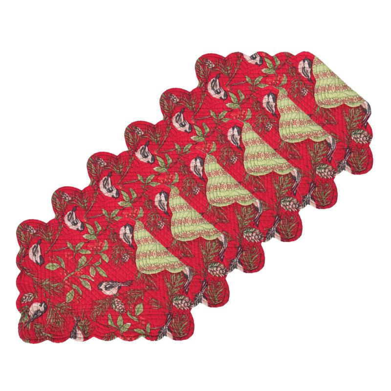 Chickadee Red Placemat 6-Pack