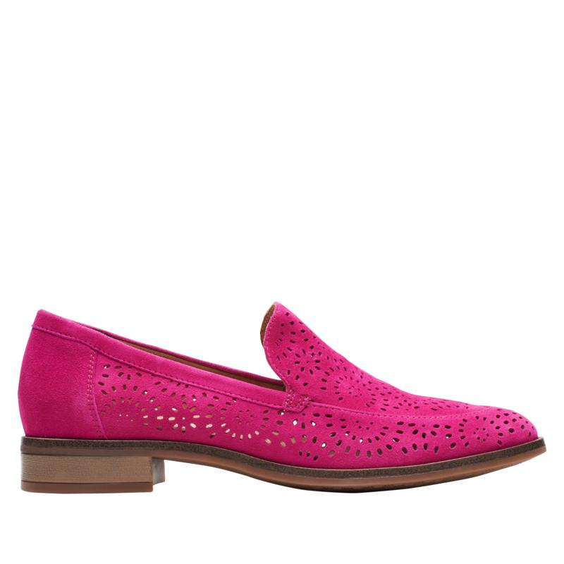 Clarks Collection Trish Calla Suede Loafer
