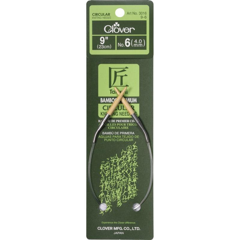 """Clover 9"""" Bamboo Circular Needles - Size 6/4mm"""